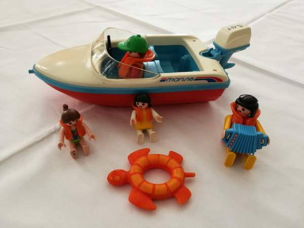 Ludothek Oberi Playmobil Motorboot